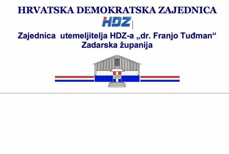 """OBAVIJEST O ODRŽAVANJU IZBORNE SKUPŠTINE ZU HDZ-a """"DR. FRANJO TUĐMAN"""" ZADARSKE ŽUPANIJE"""