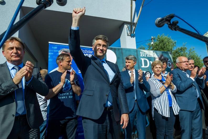 Plenković: Očekujem veliku pobjedu u gradu i županiji - Za političku stabilnost i dobrobit svih građana!