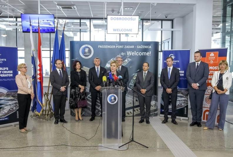 Predsjednica otvorila putnički terminal u luci Gaženica - zadarski projekt stoljeća