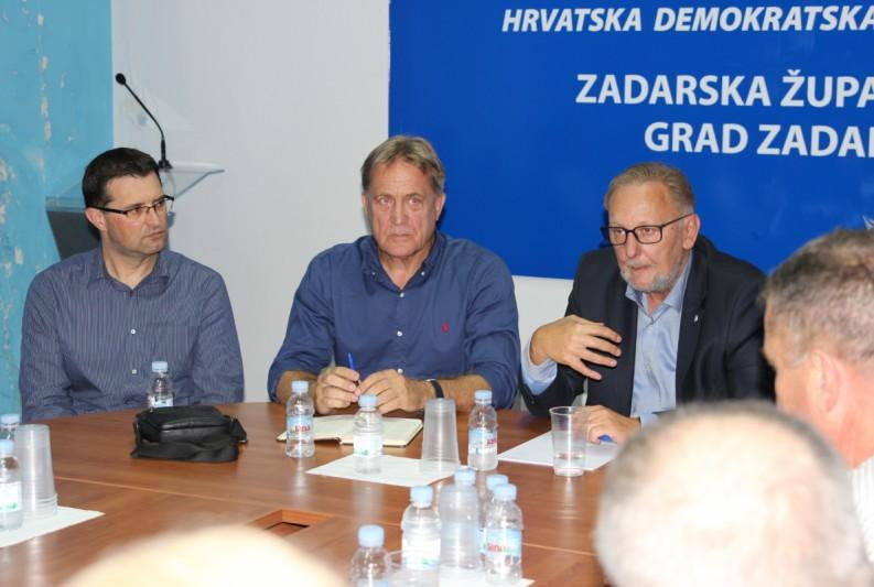 Međunarodni tajnik HDZ-a Božinović na radnom sastanku u Zadru